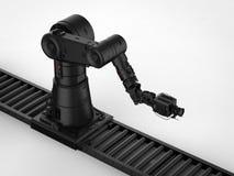 Macchina fotografica robot con il carrello Immagine Stock