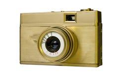 Macchina fotografica sovietica antiquata dell'oro Immagine Stock
