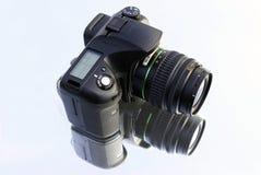 Macchina fotografica su bianco Immagine Stock