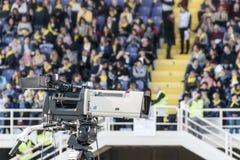 Macchina fotografica sulla TV in tensione Fotografia Stock Libera da Diritti