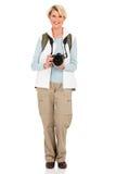 Macchina fotografica turistica senior Fotografia Stock Libera da Diritti