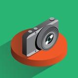 Macchina fotografica variopinta della foto di vettore isometrica Fotografia Stock