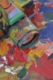 Macchina fotografica verniciata olio Fotografia Stock