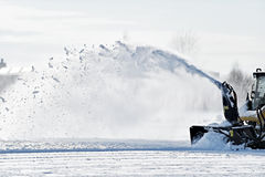 Macchina industriale di rimozione di neve Immagine Stock Libera da Diritti