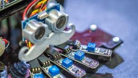Macchina industriale di robotica per la fabbricazione della linea fotografie stock