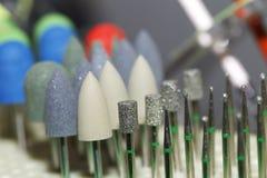 Macchina, manicure, punte, pedicure fotografia stock