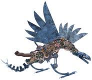Macchina meccanica Dragon Isolated di Steampunk illustrazione vettoriale