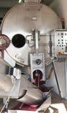 Macchina moderna per la produzione di vino Fotografia Stock Libera da Diritti