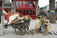 Macchina per affilare i coltelli cinese Fotografia Stock