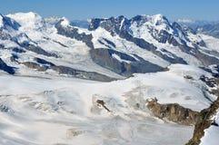 Macchina per colata continua Pollux e il Breithorn Fotografia Stock