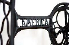 Macchina per cucire dell'America Immagine Stock