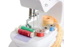 Macchina per cucire. macro Immagini Stock