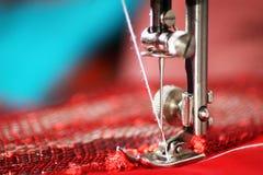 Macchina per cucire, primo piano, oggetto immagini stock