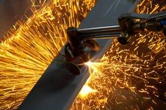 Macchina per l'acciaio di taglio Immagine Stock Libera da Diritti