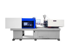 Macchina per la fabbricazione di prodotti dall'estrusione di plastica fotografia stock