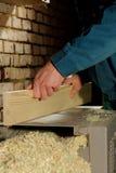 Macchina per spianare di legno Fotografia Stock