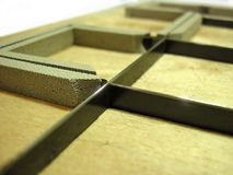 Macchina per tagliare a stampo tagliente - industria di polygraphy Fotografia Stock