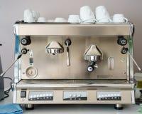Macchina professionale del caffè Fotografia Stock