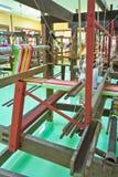 Macchina tessuta tailandese della seta Fotografia Stock