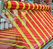 Macchina tessuta tailandese della seta Fotografie Stock