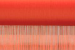 Macchina tessuta tailandese della seta Fotografie Stock Libere da Diritti