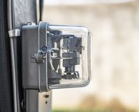 Macchina utensile del contatore elettrico di kilowattora immagini stock libere da diritti
