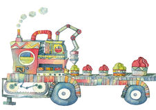 Macchina van Illustrazione per gelato Stock Afbeelding