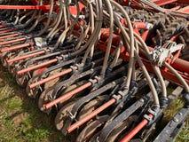 Macchinario agricolo moderno che semina macchina Fotografia Stock