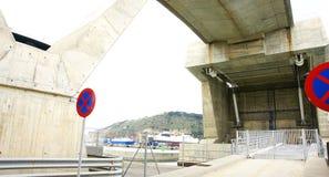 Macchinario del ponte mobile fotografia stock