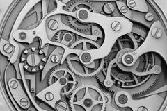 Macchinario dell'orologio con gli ingranaggi Immagine Stock