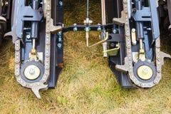 Macchinario di agricoltura, catena in grande macchina agricola Immagine Stock Libera da Diritti