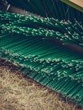 Macchinario di agricoltura, macchina del fieno con la grande spazzola Fotografia Stock