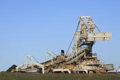 Macchinario di caricamento del carbone Fotografie Stock