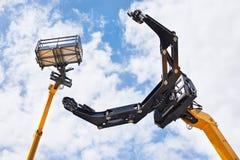 Macchinario di costruzione ad alta altitudine idraulico Fotografia Stock Libera da Diritti