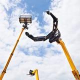 Macchinario di costruzione ad alta altitudine idraulico Fotografie Stock
