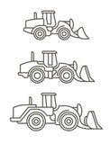 Macchinario di costruzione: Caricatori della ruota Fotografie Stock Libere da Diritti