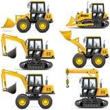 Macchinario di costruzione giallo di vettore royalty illustrazione gratis