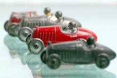 Macchine da corsa antiche del giocattolo Fotografie Stock