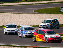 Macchine da corsa di VW Golf Fotografia Stock Libera da Diritti