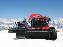 Macchine della neve Immagine Stock