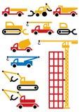Macchine ed attrezzature della costruzione Fotografia Stock Libera da Diritti