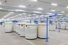 Macchine ed impianti di filatura della pianta Fotografia Stock Libera da Diritti
