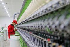 Macchine ed impianti di filatura della pianta Immagine Stock