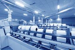 Macchine ed impianti di filatura della pianta Fotografia Stock