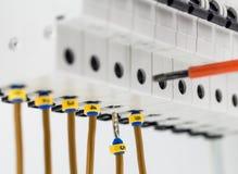 macchine elettriche, commutatori, su fondo bianco Fotografia Stock Libera da Diritti
