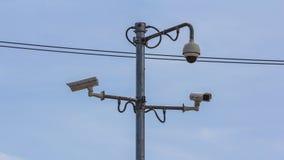 Macchine fotografiche del cctv di sicurezza Fotografia Stock