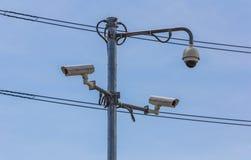 Macchine fotografiche del cctv di sicurezza Immagine Stock Libera da Diritti