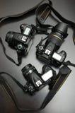 Macchine fotografiche digitali professionali Fotografie Stock Libere da Diritti