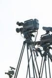 Macchine fotografiche professionali Immagine Stock