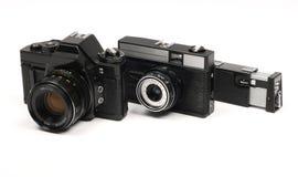 Macchine fotografiche sovietiche Immagini Stock
